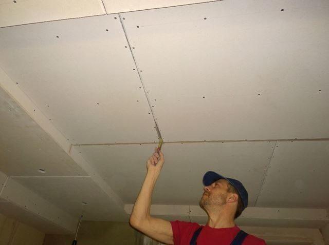Швы потолка своими руками 349