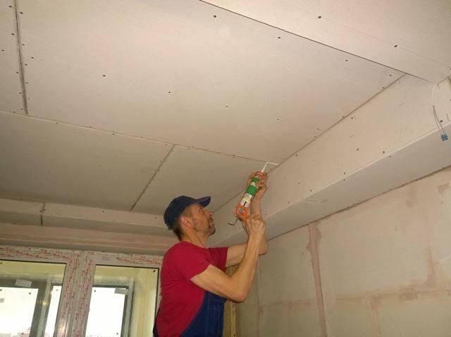 Швы потолка своими руками 827